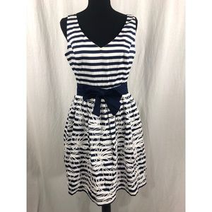 LILY PULITZER Roswell Striped Navy Dress Sz 6